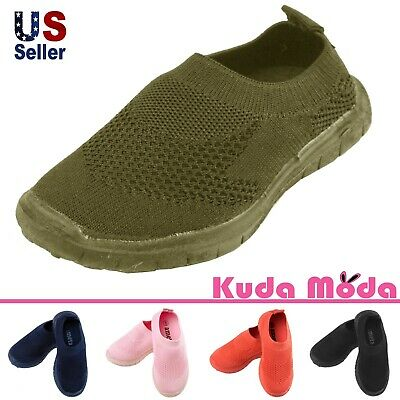 Baby Infant Toddler Boys Girls Kids Breathable Slip-on Sneakers Walking Shoes