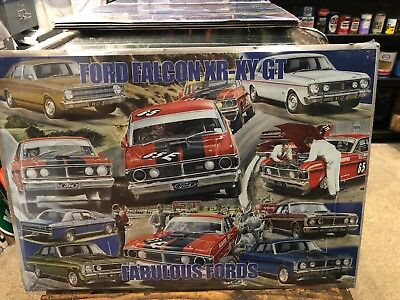 Ford Falcon Retro XR-XR GT Collage Sign