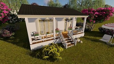 Tiny House Cottage Plans and Designs Small 1 Bedroom Home Permanent Foundation