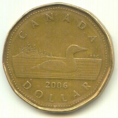 Canada 2006 Loonie Canadian One Dollar Coin EXACT COIN SHOWN ~