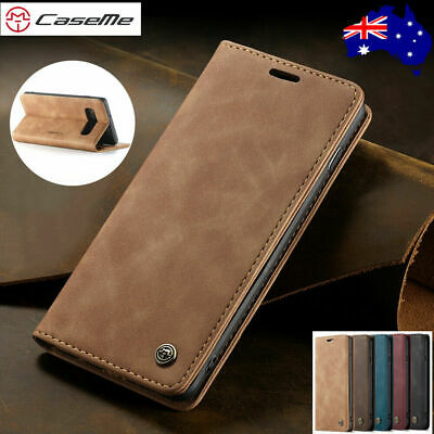 For Samsung A70 A20 A50 A80 A30 Magnetic Flip Leather Wallet Card Case Cover New