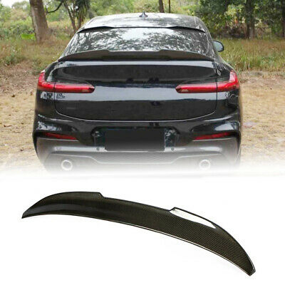 For BMW X4 G02 SUV 19-20 Rear Trunk Boot Lip Wing Spoiler Carbon Fiber