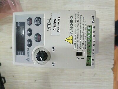 Delta L series inverter 0.75KW 220V VFD075L21A  single phase inverter 1PCS USED