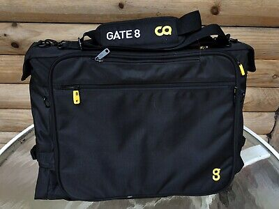 Gate 8 Black Luggage Rolling Wheeled Travel Carry Foldout Bag Gate8