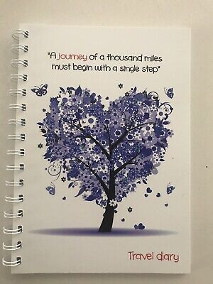 Travel diary Purple Tree With quote