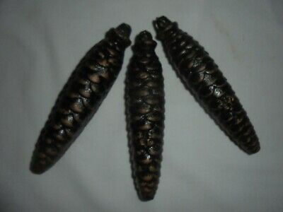 Vintage antique Black Forest pine cone cuckoo clock weights set of 3