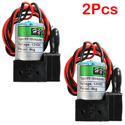 2pcs DC12V Small Ink Pump New for Sino Wide Format Printers DC12V, 3W, 100ml/min