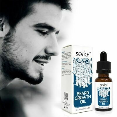 20ml Thicker Beard Oil Natural Men Healthy Beard Mustache Boosts Fast Growth