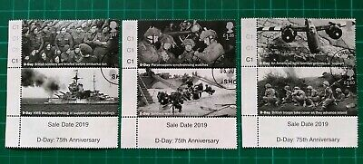 2019 75th Anniversary D-Day  Set of 6 USED