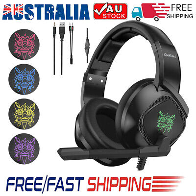 ONIKUMA K1 Gaming Headset Mic Surround Stereo Bass with Mic for PC New Xbox L2U4
