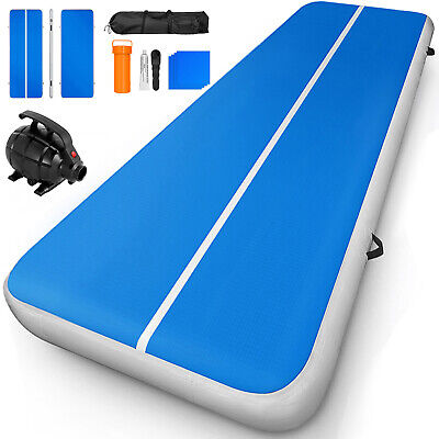 Airtrack Inflatable Air Track 20FT Floor Gymnastics Tumbling Mat 8inch GYM Pump