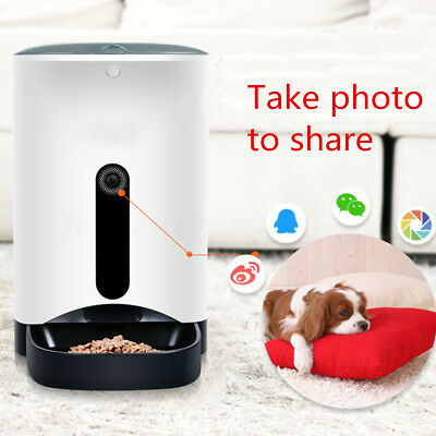 Automatic Pet Feeder for Cat Dog iOS Android App Wifi Cam Timer Food  CA US