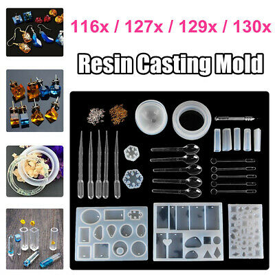 DIY Silicone Mold Making Jewelry Pendant Resin Casting Mould Craft Tool Set