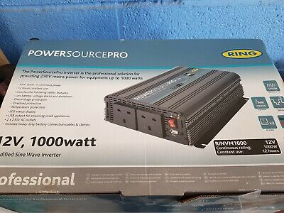 Ring 12v 1000w Inverter RINVM1000 brand new