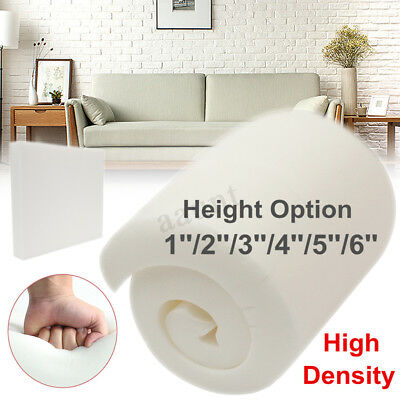 1/2/3/4/5/6'' High Density Seat Foam Sheet Upholstery Replacement Cushion Pads