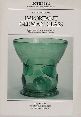 Important German Glass: The Erskine Collection Auction Catalogue