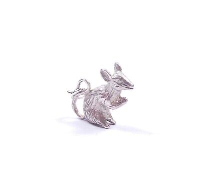 Vintage Charm Rat Small Detailed Solid 925 Sterling Silver 2.3grams