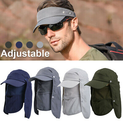 Legionnaire Cap Sun Hat UV Neck Protection Mens Women's Summer Fishing Camping