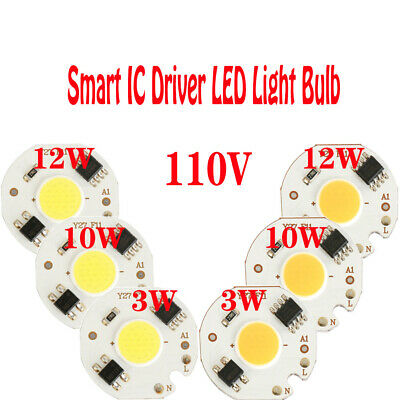 3W 10W 12W COB Light Chip Energy Saving Smart IC Driver Direct Power AC 110V DIY
