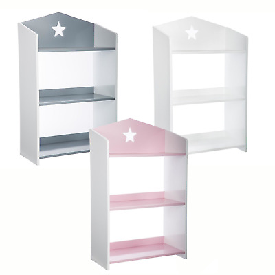 3 Tier Storage Shelf Bookcase Children Kids Furniture Shelving Unit Bookshelves