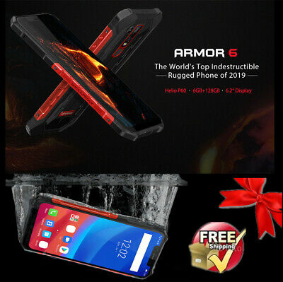 """Ulefone Armor 6 4G Teléfono 6.2"""" 6GB 128GB Android 8.1 5000mAh Impermeable Rouge"""