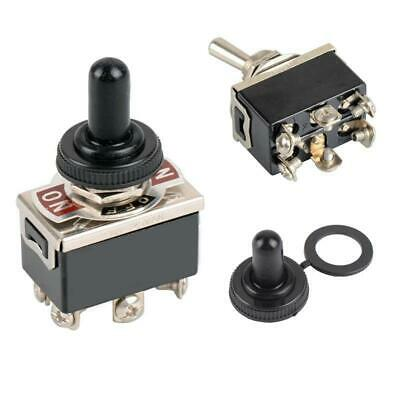 6-Pin DPDT ON-OFF-ON Switch Reverse Polarity Motor 15A 250V Locking Switches UK