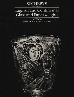 English & Continental Glass & Paperweights Auction Catalogue Sotheby's London