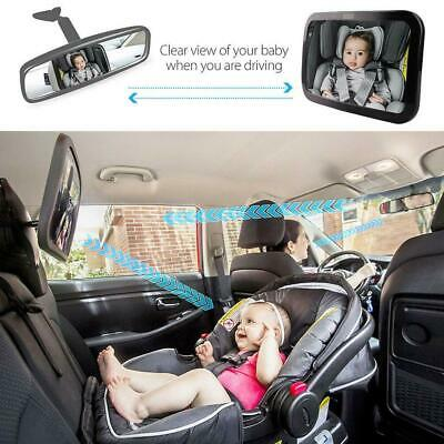 Large Wide Baby Rear View Kids Car Safety Back Seat Mirror Easily Adjustablegood