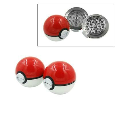 55mm 3-Layers Zinc Alloy Tobacco Mill Spice Herb Grinder Pokeball Pokemon F Gift