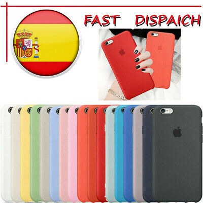 Genuina Funda para Apple iPhone 7 8 Plus XS Max XR Original carcasas de Silicona