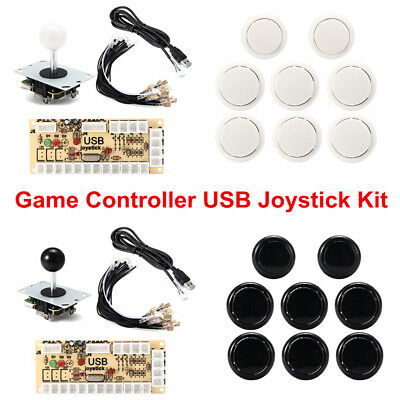 Pro Zero Delay Arcade Game Controller USB Joystick Kit Set for MAME Raspberry
