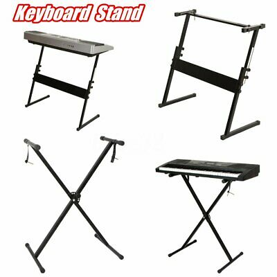 Black Keyboard Piano X Frame Stand Electric Organ Rack Metal Height