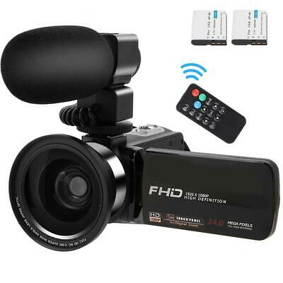 "HD 1080P 24MP 3""Touch Screen 16X Zoom Video Camera Camcorder with Remote Control"