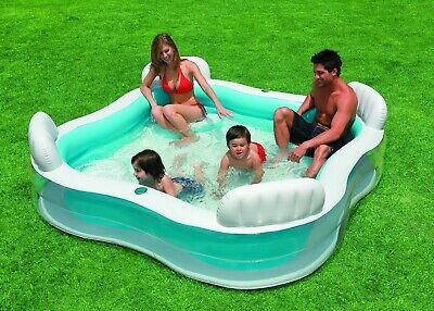 Piscina Jacuzzi Infantil Hinchable Inflable Con 4 Sillones. Intex 56475 Familiar