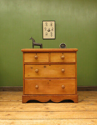 Petite Victorian Country Pine Chest of Drawers, cottage bedroom chest