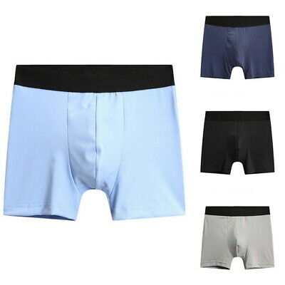 Men's Ice Silk Boxer Breathable Underwear Briefs Shorts Pouch Soft Underpants US
