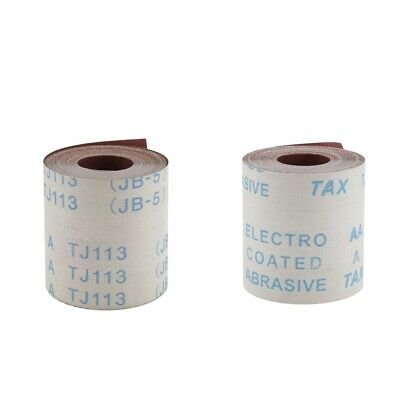 2 Pcs (320&600 Grits) 10m Abrasive Cloth Emery Cloth Roll for Metal Glass