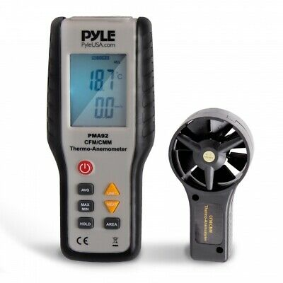 Pyle PMA92 Digital Wind Speed Anemometer , CFM Thermometer, Air Flow Meter