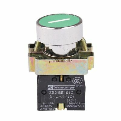 22mm 1NO ZB2-BE101C Momentary GREEN Pushbutton Switch 10A 600V AC
