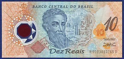 Brazil, 2000 10 Reais Banknote, Commemorative Issue, Polymer, UNC  (Ref. t1964)