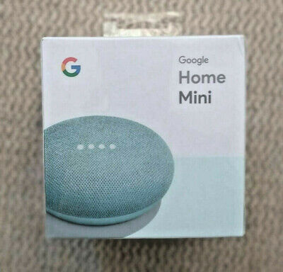 Google Home Mini Assistant  Smart Small Speaker - Aqua Blue-  BRAND NEW