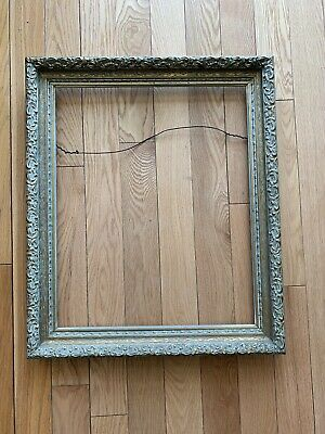 Vintage Gold Ornate Wood Picture Frame 21.5:25.5 And 17.8:21.8 Inches