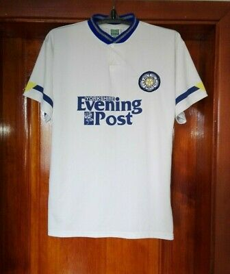Leeds United 1991 - 1992 home football shirt jersey retro Replica size M