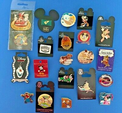 Disney 20 Trading Pin Lot Limited Edition Special Events LE 2 Pin Set Rare Lot E