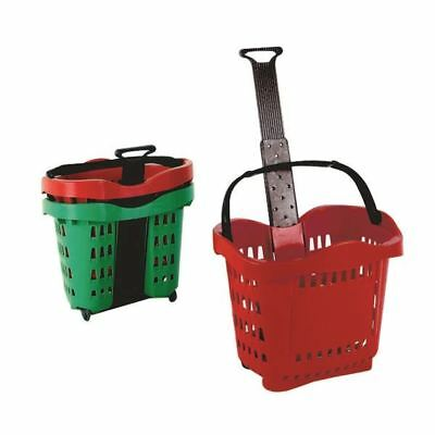 Giant Shopping Basket/Trolley Red SBY20753 [SBY20753]
