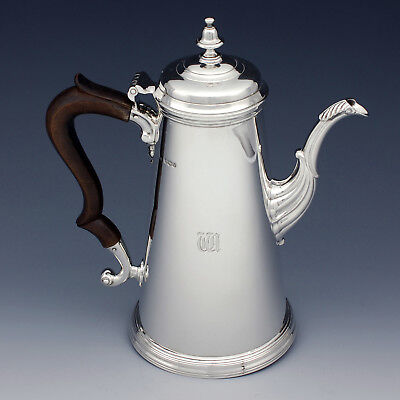 Antique Sterling Silver Coffee Pot ~ James Dixon & Sons Ltd 1938 ~ George VI