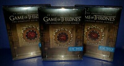 Game Of Thrones Season 5 Blu Ray Steelbook * Oop * Brand New Sealed Dolby Atmos