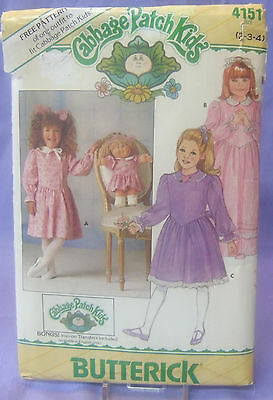 Butterick Cabbage Patch Kids - Girl/doll 4151 Sizes 2-3-4