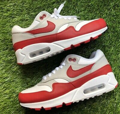 Nike Air Max 901 Womens AQ1273 100 White University Red Running Shoes Size 8.5