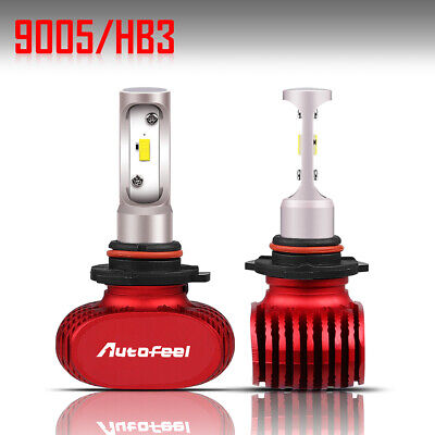 Pair Fanless LED Headlight Kit 9005 HB3 H10 9140 9145 1500W 6000K 220000LM Bulbs